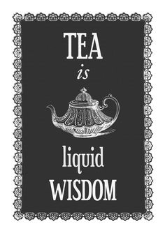 Kitchen Poster Tea Print Quote Print Tea Poster by oflifeandlemons, $18.70