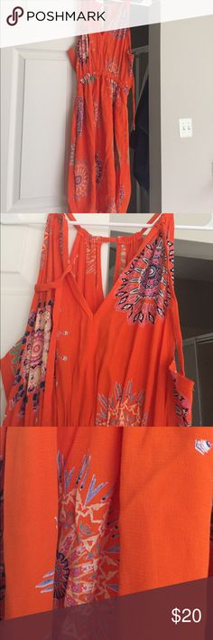 Gorgeous summer dress from Anthropologie Aztec prints on this beautiful linen-like burnt orange sun dress from Anthropologie. Stunning but fit a bit large for me! Anthropologie Dresses Mini