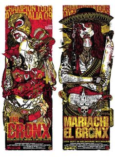 The Bronx posters, by Rhys Cooper.