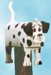 #Dalmatian Dog Mailbox || www.DadandSonsWW.com