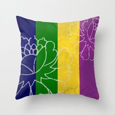 Chinese Flowers - Purple Yellow Green Blue Throw Pillow #chinese #japanese #asian #oriental #flower #floral #beautiful #color #colour #colourful #colorful #stripes #peonies #design #decor #homedecor #minimal #art #artsy #artistic #wallart #artprint #pod #frame #bathroom #bedroom #kitchen #beddings #mug #fabric #ceramic #fashion #tee #leggings #accessories #cover #case #phonecase #phone #iphone #tablet #ipad #blue #purple #yellow #green #decorideas #gift #giftideas #giftforher #giftforhim…
