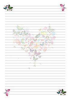 страницы для блокнота Printable Lined Paper, Free Printable Stationery, Printable Scrapbook Paper, Kids Planner, Planner Pages, Lined Writing Paper, Stationery Paper, Note Paper, Envelopes