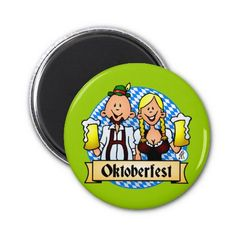 Oktoberfest Magnet. #Zazzle #Cardvibes #Tekenaartje #SOLD