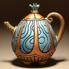 Clayations teapot See More. Pottery Teapots, Ceramic Teapots, Ceramic Pottery, Tea Pot Set, Pot Sets, Cute Teapot, Teapots Unique, Chocolate Pots, Tea Ceremony