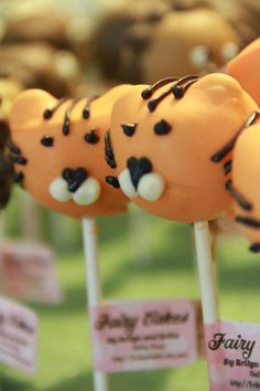 Tiger Cake Pops  1 Dozen  Local Pickup Only by ErikasJewels, $22.00