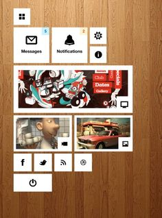 dashboard gui interface ios menu mobile navigation notifications ui user interface