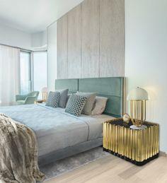 MESA DE NOCHE SYMPHONY DE BOCA DO LOBO | Ideas muy sexys para decorar un dormitorio moderno | Lee más en: decorarunacasa.es #DecorarUnaCasa #ideasparadecorar