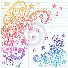 Sketchy Star Doodles Vector Illustration Design