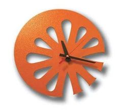 """Recycled """"Juice"""" Wall Clock for Kitchen or Office.  Available in Orange, Lemon, Grapefruit, and Lime."""