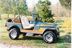 1984 Jeep CJ 7 Renegade Tundra Green w/Nutmeg Interior.   Seconded vehicle I ever owned loved that jeep