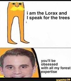 Deh au where Evan is the lorax and connor is the tree that died in the beginning