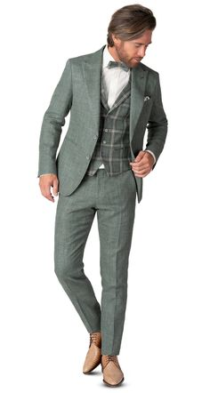 Green Wedding Suit, Vintage Wedding Suits, Vintage Groom, Wedding Men, Wedding Attire, Fashion Wear, Unique Fashion, Mens Fashion, La Mode Masculine