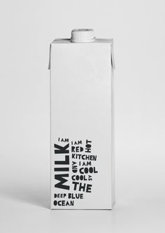 MILK.  the typography makes me want to have this in my fridge!