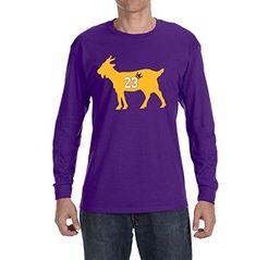 500b77bcae10 Deetz Shirts PURPLE Los Angeles James Goat Long Sleeve Shirt. Lebron ...