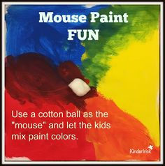 Mouse Paint Fun- exploring color mixing and the color wheel Kindergarten Colors, Kindergarten Art Lessons, Preschool Colors, Preschool Literacy, Art Lessons Elementary, Preschool Art, Preschool Painting, Visual Literacy, Preschool Alphabet