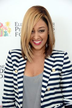 Cute! #bob #haircut #blond #TiaMowry