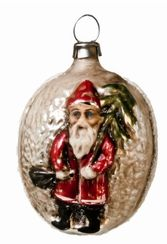 Santa on Kugel Ornament made by Richard Mahr GmbH (Marolin) in Steinach