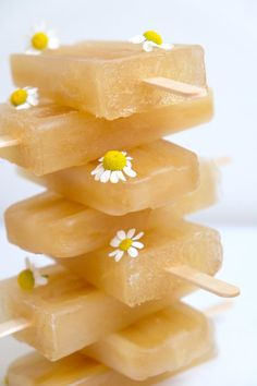 HONEY CHAMOMILE POPSICLES