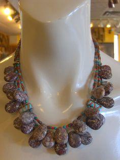 Triple Strand Appaloosa Jasper Coral Wild by EarthEchos on Etsy, $585.00