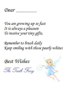 Free tooth fairy letter by three little monkeys studio for Letter from the tooth fairy template