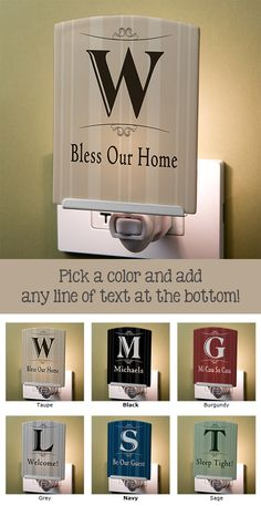 LOVE this personalized night light! The design is simple, clean and elegant ... this will look so much better in the house instead of the little kid or plain night lights!