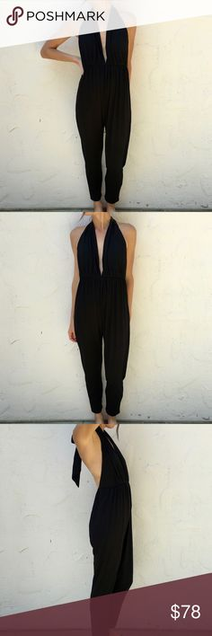 "Rachel Pally Russell Jumpsuit Casual and Chic Jumpsuit by Rachel Pally Helter neck - ties at back Length: 58"" Inseam: 28"" Spandex/Modal blend - Very comfortable! True to size NWOT Rachel Pally Dresses Maxi"