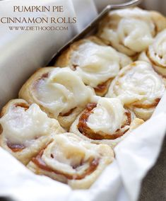 Pumpkin Pie Cinnamon Rolls Recipe | Diet Hood