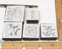 WINNIE THE POOH FOAM MOUNTED LOT OF 5 BY DISNEY  Rubber Stamp   #Disney #RUBBERSTAMP