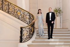 "Kensington Palace (@KensingtonRoyal) on Twitter:  March 17, 2017-Kensington Palace tweeted a photo of the Duke and Duchess of Cambridge at the Hôtel de Charost, the residenceo of the British Ambassador to France:  ""What a wonderful start to #RoyalVisitParis! Thank you to everyone for such a warm welcome"""