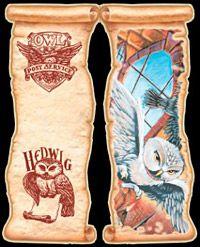 free printable Harry Potter Bookmark Owl