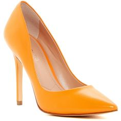 Charles By Charles David Pact Pump ($40) ❤ liked on Polyvore featuring shoes, pumps, orange, charles by charles david shoes, orange pumps, pointed toe shoes, slip on shoes and pointy toe pumps