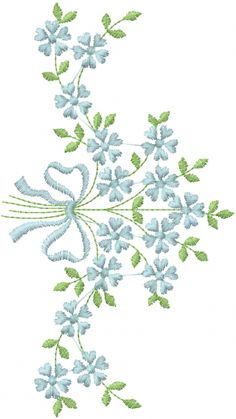 Embellishments Embroidery Design: Hummingbird Vine Bouquet from AnnTheGran