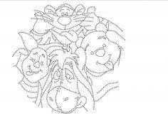 Winnie de Poeh gekke bekken trekken   01/31-10-2013   glittermotifs