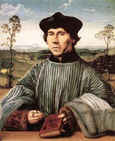 Quentin Massys ~ Portret van een domheer ~ 1510 ~ Olieverf op hout ~ 60 x 73 cm. ~ Verzameling van de Prins van Liechtenstein, Vaduz