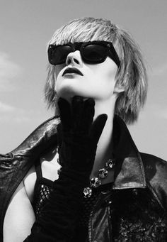 Lily Fraser and Daniela Kocianova by Marissa Findlay for Dharma Salon Wearing Glasses, Hairdresser, Fashion Models, Salons, Sunglasses Women, This Is Us, Lily, Black And White, How To Wear