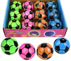 New 12Pcs Light Up Bounce Soccer Ball For Indoor Outdoor Activities Party Favors