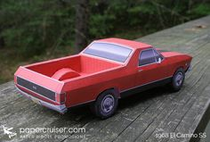 1968 El Camino SS paper model | www.papercruiser.com