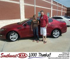 #HappyAnniversary to David Levin on your 2013 #Kia #Optima from Alexander Neidich at Southwest KIA Rockwall!