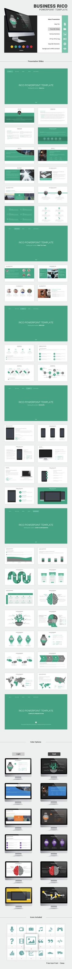 Rico Business PowerPoint Template #slides Download here: http://graphicriver.net/item/rico-business-theme/14673877?ref=ksioks