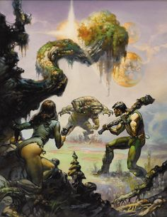 Boris Vallejo Through the Reality Warp Paperback Book Cover Painting Original Art (Ballantine Books, In - Available at 2010 November Dallas Signature. Boris Vallejo, Fantasy Kunst, Dark Fantasy Art, Fantasy Artwork, Sci Fi Kunst, Jordi Bernet, 3d Chalk Art, 70s Sci Fi Art, Fantasy Illustration