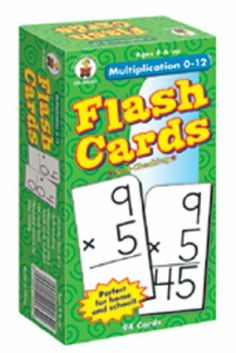 Flash Cards Multiplication 0-12 -- Case of 5 . $39.28. Flash Cards Multiplication 0-12 by CARSON DELLOSA