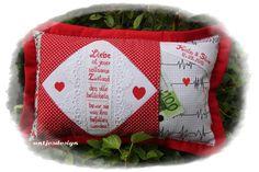 Hochzeitsgeschenk  Liebe ist - Name - Geldgeschenk von Antjes Design auf DaWanda.com