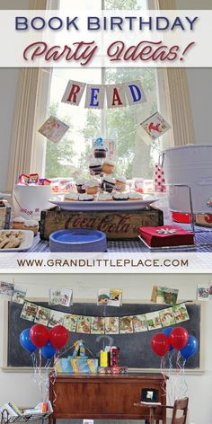 Book Birthday Party Ideas for Children, Toddlers and 2 year olds!