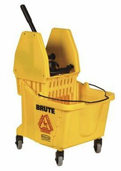"""Rubbermaid FG757788 WaveBrake Down Press Combo High-Performance Mopping System, 35 qt Capacity, 20.1"""" Length x 15.7"""" Width x 36.5"""" Height, Yellow by Rubbermaid Commercial Products. Save 52 Off!. $92.70. Brute, 26/35 QT, Downward Pressure Combination Yellow Mop Bucket and Wringer,Commercial Grade, #7570 Mop Bucket With 3"""" Non Marking Casters and #7575 Wringer."""