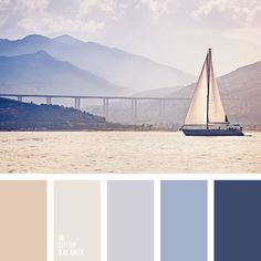 Color Palette No. 1981 I love how much this stands out and love the shades of blue paired with the neutrals!