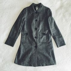 Black Tweed Coat This is a great coat from GAP in perfect condition. It was recently dry cleaned and not worn afterwards.  GAP Jackets & Coats Pea Coats
