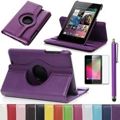 Pandamimi ULAK(TM) 360 Rotating Slim Fit Folio Stand Leather Case Cover for Google Asus Nexus 7 Inch Android Tablet (Multi-standing function, Support Sleep and wake up) with Screen Protector and Stylus (Dark Purple) by ULAK, http://www.amazon.com/dp/B00DR7IHLW/ref=cm_sw_r_pi_dp_oX80rb07SZ6HJ