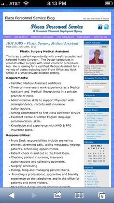 We Are Hiring Career Motivated Medical Assistants For FullTime