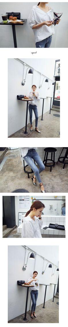 ショルダーストラップルーズVネックシャツ・全2色シャツ・ブラウスシャツ|レディースファッション通販 DHOLICディーホリック [ファストファッション 水着 ワンピース]