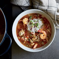 This best-ever Seafood Gumbo gets flavor from a dark roux and three kinds of seafood. Get the recipe at Food & Wine.